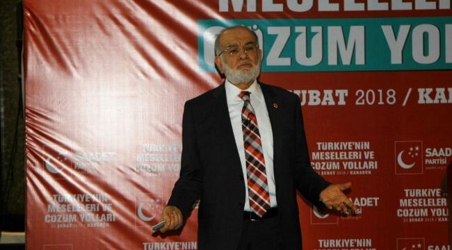 SP Genel Başkanı Karamollaoğlu Karabük'te  konuştu