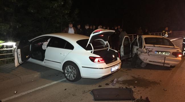 Yakıtı Biten Otomobil Kazaya Neden Oldu
