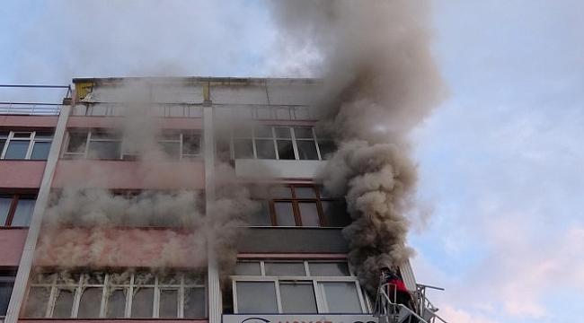 Karabük'te İş Yeri Yangını