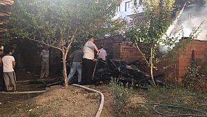 Karabük'te kömürlük yangını korkuttu