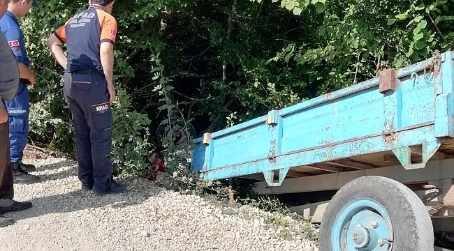 Karabük'te traktör devrildi: 2 ölü