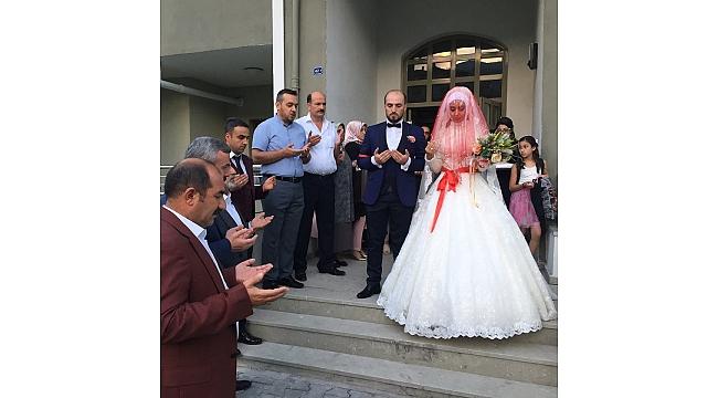 El Bab Şehidinin Evlenen Ağabeyine Polis Konvoyu