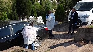 Karabük'te  hırsızlar mezarlıkta izlerini kaybettirdi