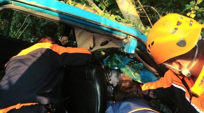 Baba ile oğulu trafik kazası ayırdı