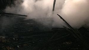 Eskipazar'da Samanlık Yangını