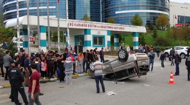 Karabük'te saniye saniye kaza anı kamerada