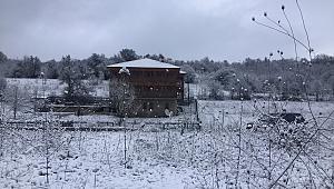 Karabük'te kar yağışı etkili olmaya başladı