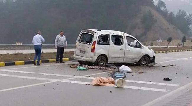 Yoldan çıkan araç takla attı: 1 ölü, 1 yaralı
