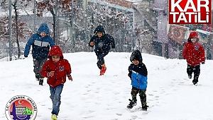 Karabük'te Eğitime Kar Tatili