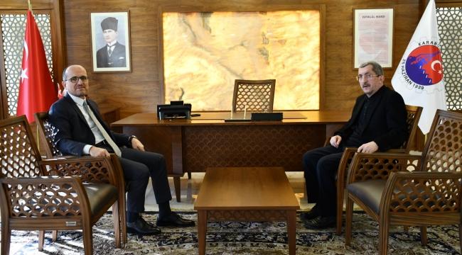 Kardemir A.ş  Genel Müdürü Soykan'dan Başkan Vergili'ye Ziyaret