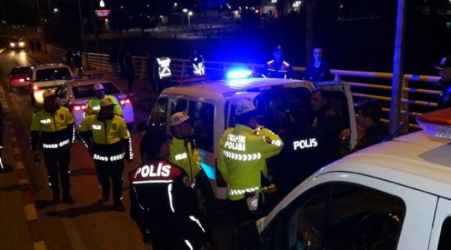 Polisten kaçan alkollü sürücü, kaza yaptı