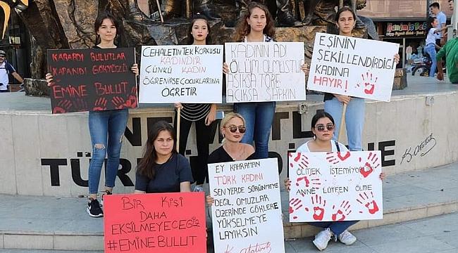 Safranbolu'da Emine Bulut cinayeti protesto edildi
