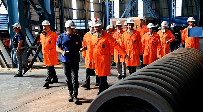 Savunma Sanayi Başkanlığı Heyeti Kardemir'de