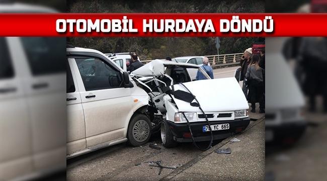 OTOMOBİL HURDAYA DÖNDÜ