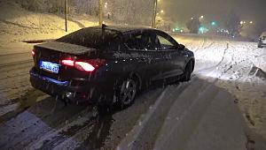 Karabük´te yollar buz pistine döndü birçok araç kaza yaptı