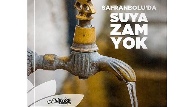 Safranbolu'da Suya Zam Yok