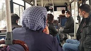 Minibüslerde yolcu sayısı 7'ye düştü