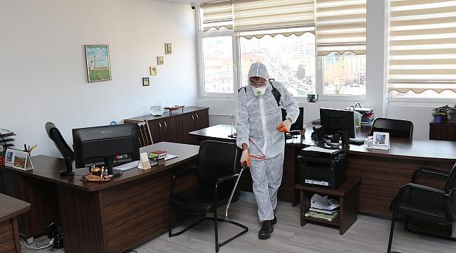 Safranbolu Belediyesi'nde dezenfekte çalışması