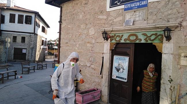 Safranbolu'da Camiler Dezenfekte Edildi