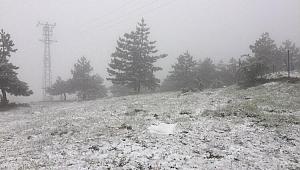 Karabük'te mayıs ayında kar sürprizi