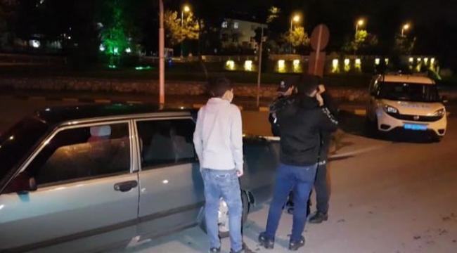 Sokağa çıkma kısıtlamasına uymayan 2 kişiye ceza kesildi