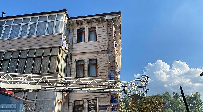 3 katlı evde çıkan yangın korkuttu
