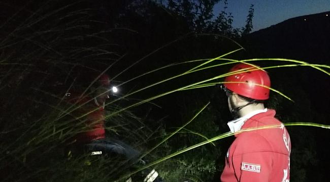Yenice'de uçuruma yuvarlanan otomobilin sürücüsü ağır yaralandı