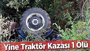 Safranbolu'da devrilen traktörün sürücüsü öldü
