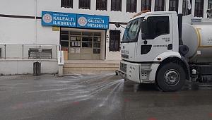 Safranbolu'da okullar dezenfekte ediliyor