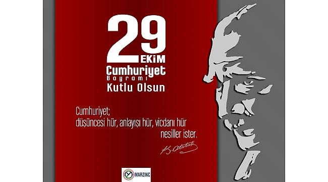 Marzinc 29 Ekim Cumhuriyet Bayramı Kutlu Olsun