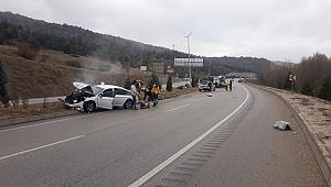 Kaza üstüne kaza: Ortalık karıştı!