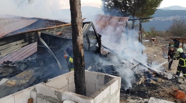 Karabük'te ev yangını:  1 köpek telef oldu