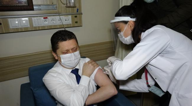 Karabük'te  ilk aşı vuruldu