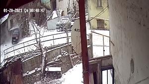 Karabük'te kar kazaları kamerada
