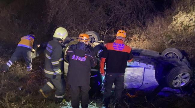 Yaralı Sürücüyü AFAD ve itfaiye çıkardı