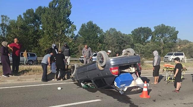 Karabük'te otomobil takla attı: 5 yaralı