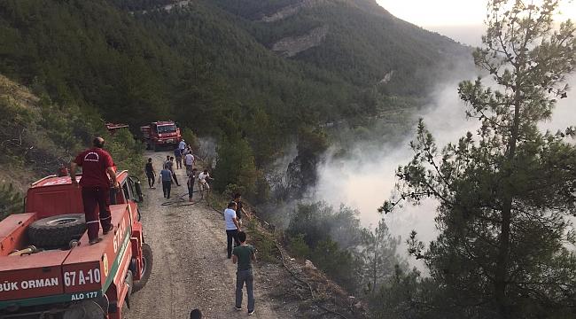 Karabük'te Orman Yangını Devam Ediyor