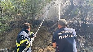 Karabük'te vatandaşlar yangını söndürmek için seferber oldu
