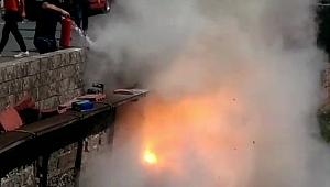 Karabük'te elektrik kabloları patladı