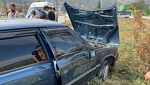 Kontrolden çıkan otomobil kaza yaptı: 2 yaralı